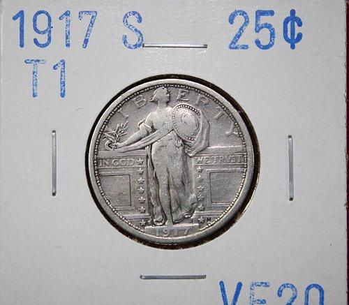 1917 S T1  STANDING LIBERTY QUARTER