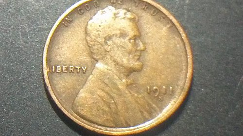 1911 S wheat penny