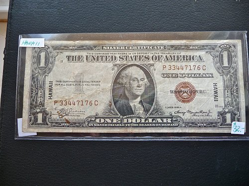 1935 -A  Hawaii overprint  $1.00 bill