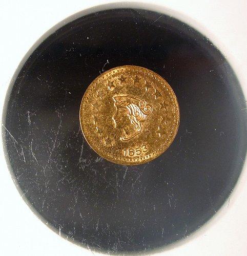 1853 1/2 California Gold Token Liberty Head Round
