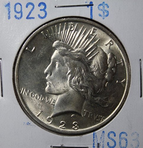 1923 Peace One Dollar