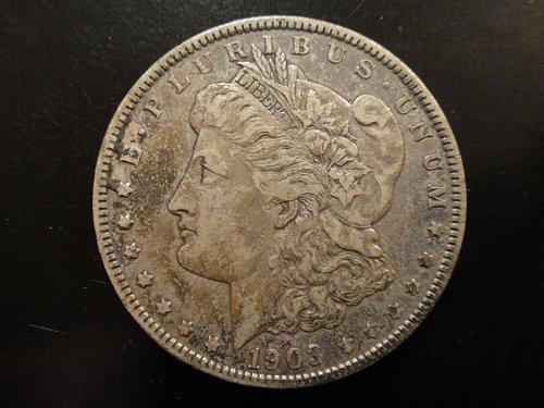 1903 Morgan Dollar Extra Fine-40 Lovely Dark Pearl Grey Original Patina!