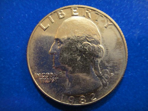 1982-D Washington Quarter MS-64 (Near Gem) Nice Feather Defintion!