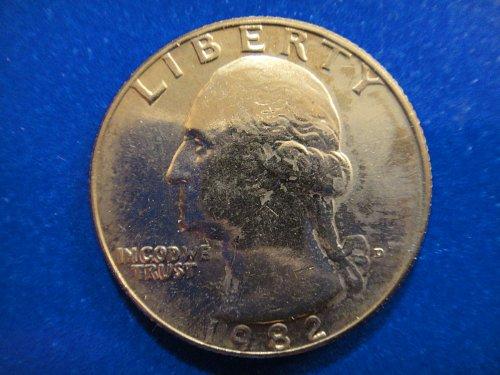 1982-D Washington Quarter MS-64 (Near Gem) Nice Feather Defintion!