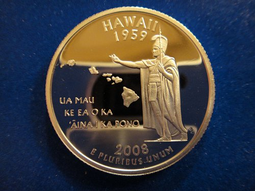 Statehood Quarter 2008-S Hawaii SILVER Proof-66 (GEM+)