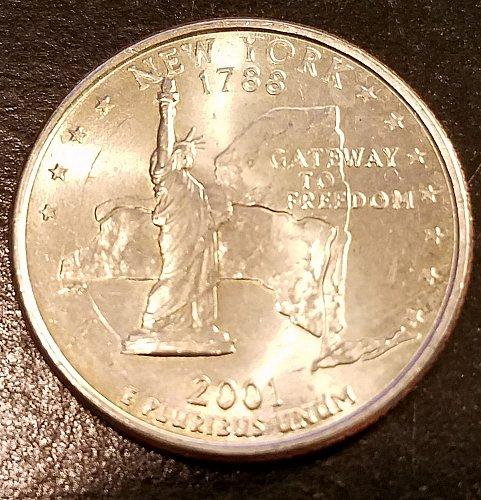 2001-P New York State Quarter (6297)