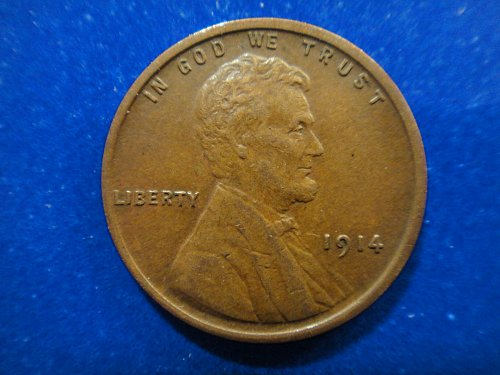 1914 Lincoln Cent Almost Uncirculated-53 Nice Fully Struck Coin!