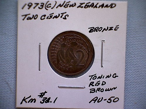 1973 (c) NEW ZEALAND  TWO CENTS