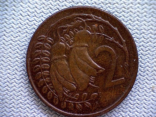 1974 (c) NEW ZEALAND TWO CENTS