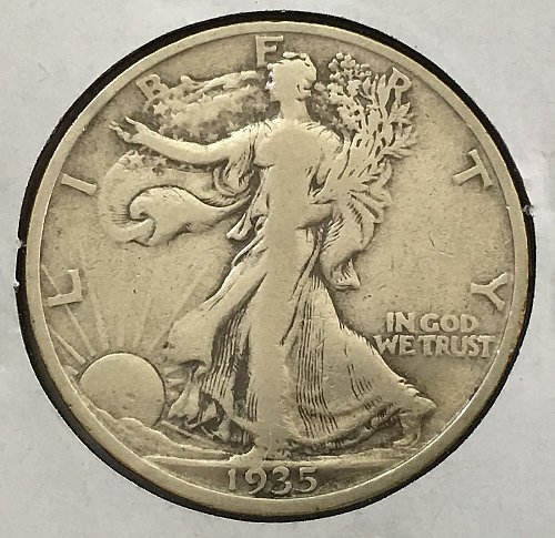 1935 P Walking Liberty Half Dollar