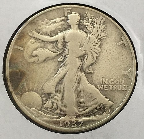 1937 P Walking Liberty Half Dollar