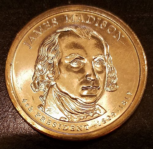 2007-P James Madison Presidential Dollar - From Mint Roll (6317)