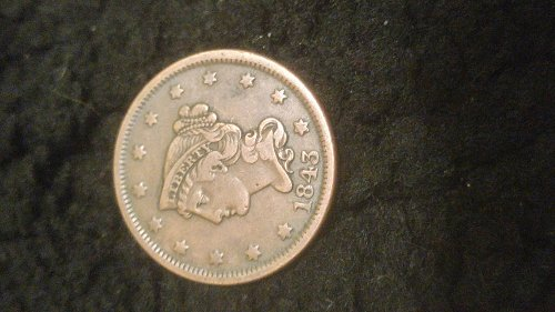1843 Large One Cent
