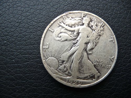 1929 -S  Walking Liberty Half Dollar