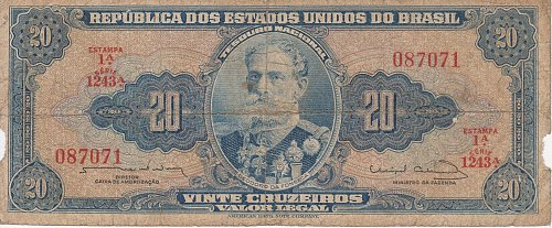 Brazil (1954-1961), 20 Cruzeiros - Circulated Currency