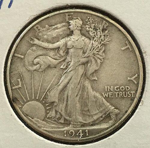 1941 D Walking Liberty Half Dollar