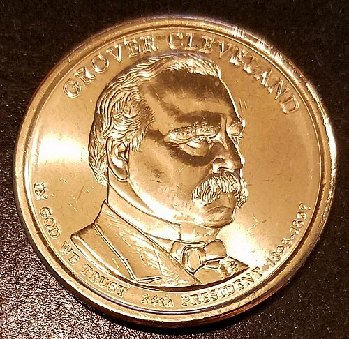 2012-D Grover Cleveland (2nd Term) Presidential Dollar - From Mint Roll (6323)