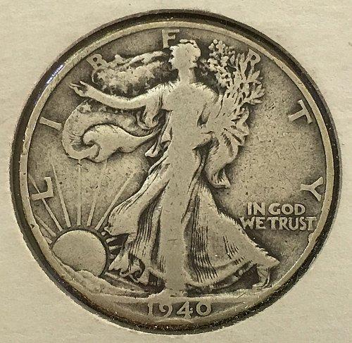 1940 P Walking Liberty Half Dollar