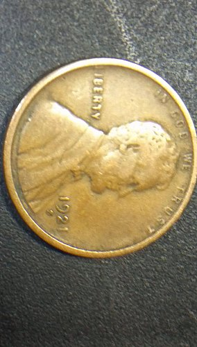 1921 S wheat penny #2