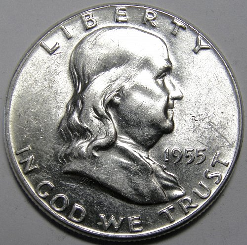 1955 P FRANKLIN HALF DOLLAR #1
