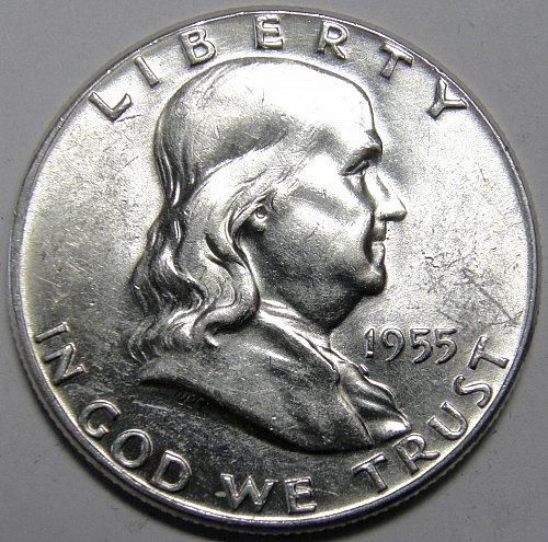 1955 P FRANKLIN HALF DOLLAR #1