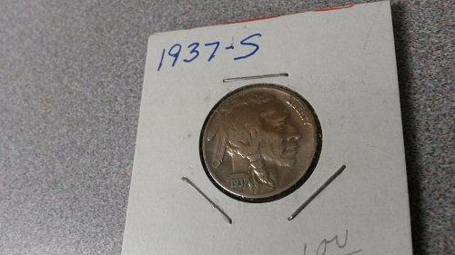 1937 S Buffalo Nickel Nice looking