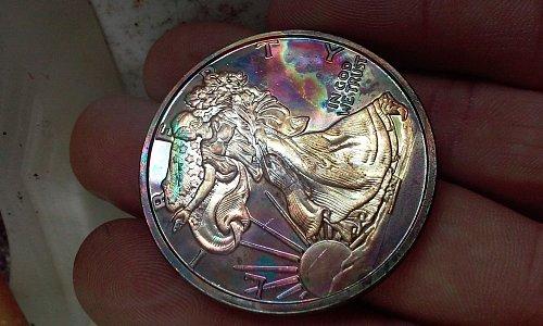 1 oz .999 fine copper eagle round 2013