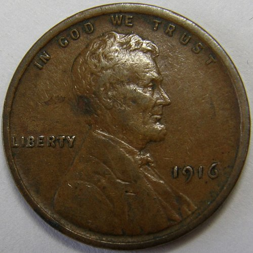 1916 P Lincoln Wheat Cent #3