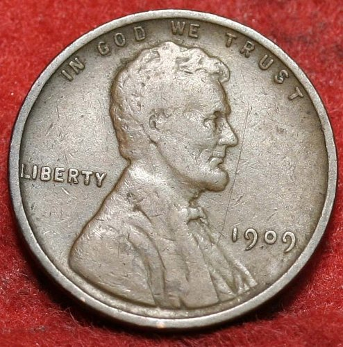 1909 P VF OLD WHEAT CENT