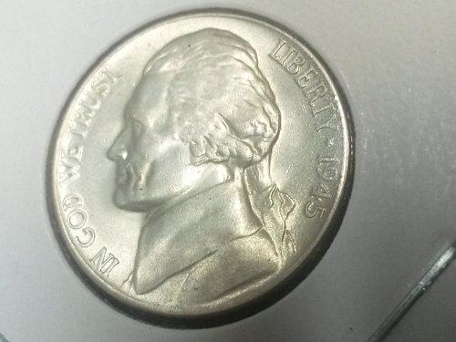 Attractive 1945 D Jefferson Silver War Nickel