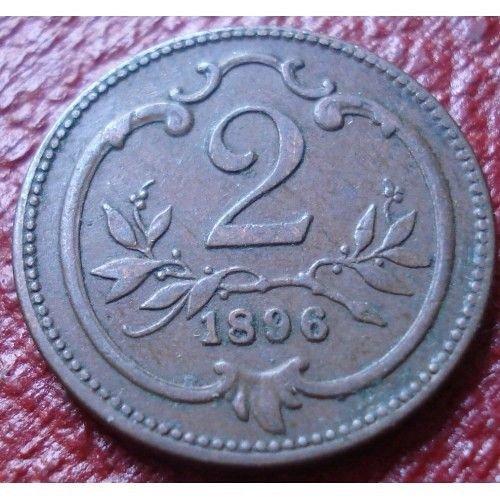 1896 austria 2 heller