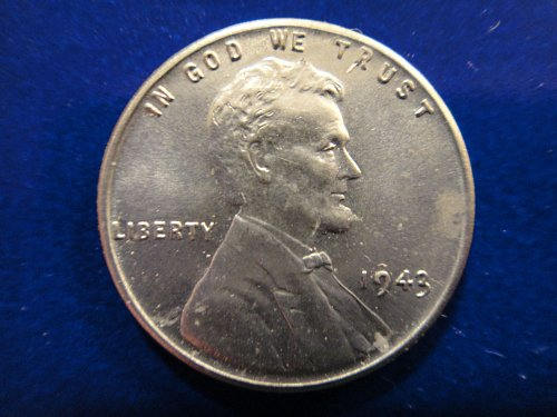 1943 STEEL Lincoln Cent MS-63 (Choice BU) Decent Eye Appeal!