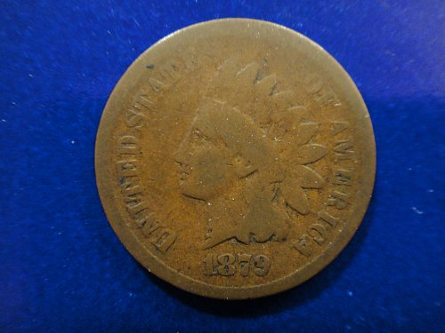 1879 Indian Cent Good-4 Nice Milk Chocolate Brown With Minimal Marks!