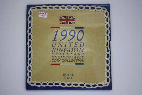1990 GREAT BRITIAN COINAGE COMMEMORATIVE 8 COIN SET