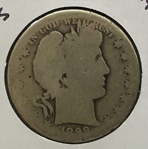 1899 S Barber Half Dollar