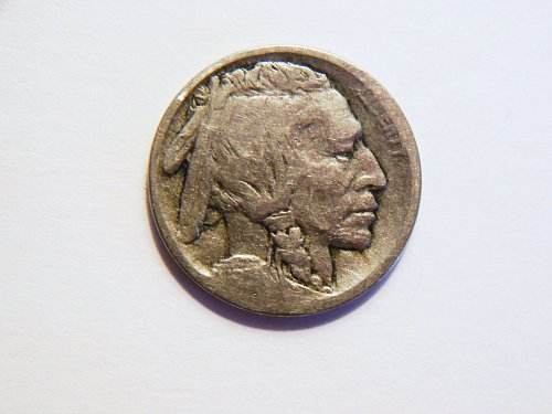 1913-D Type 1 Raised Mound Buffalo Nickel