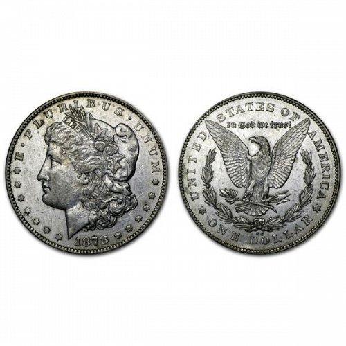 1878 CC $1 Morgan Silver Dollar - AU
