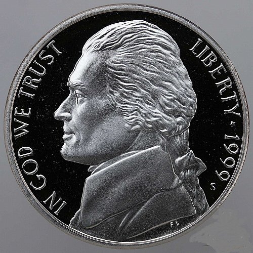 1999 S Jefferson Nickel Gem Deep Cameo Proof