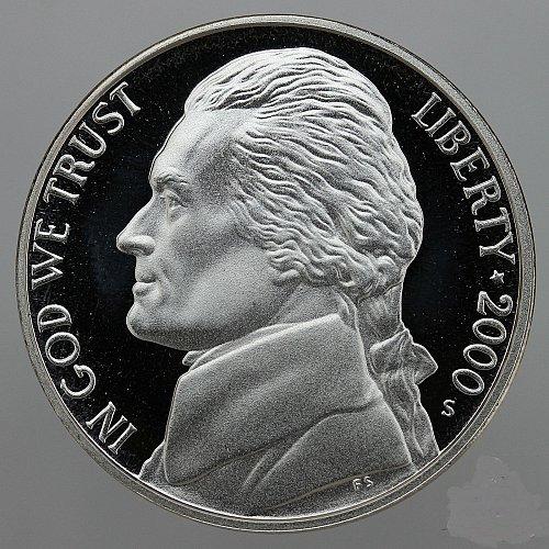 2000 S Jefferson Nickel Gem Deep Cameo Proof