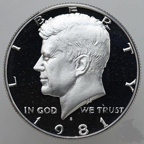 1981 S Kennedy Half Dollar Type 1 Gem Deep Cameo CN-Clad Proof