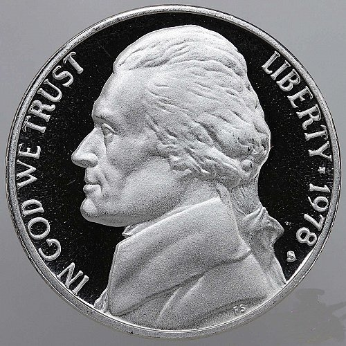 1978 S Jefferson Nickel Gem Deep Cameo Proof