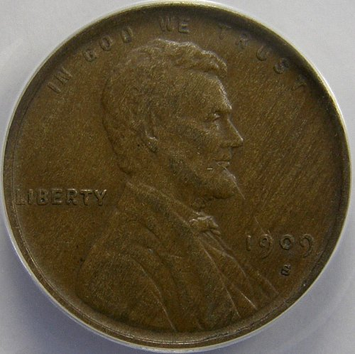 1909 S Lincoln Wheat Cent - ANACS EF40