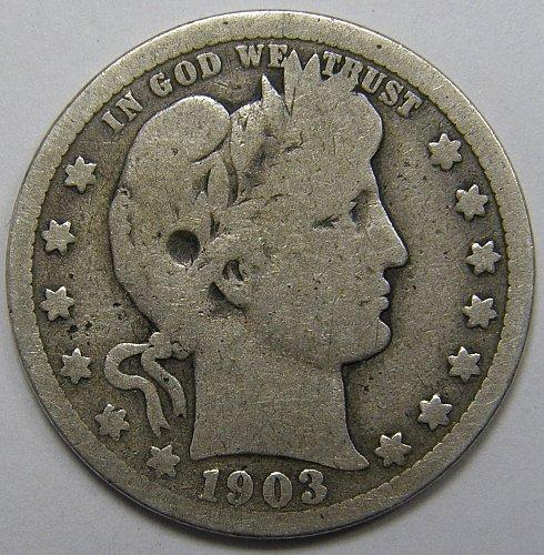 1903 P Barber Quarter #1
