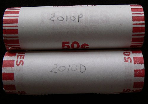 2010 P & D Lincoln Shield Cents Rolls