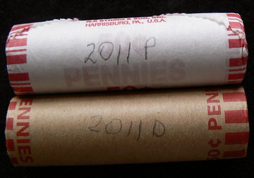 2011 P & D Lincoln Shield Cents Rolls