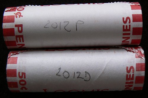 2012 P & D Lincoln Shield Cents Rolls