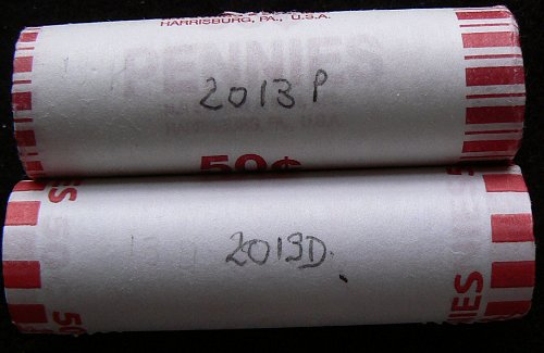 2013 P & D Lincoln Shield Cents Rolls