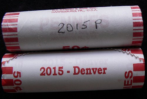 2015 P & D Lincoln Shield Cents Rolls