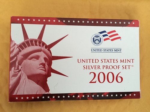 2006 United States US Mint 10 Pc. Silver Proof Set with COA