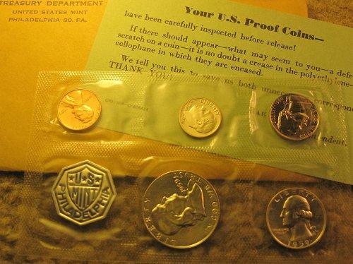 1959 US Mint Silver Proof Set